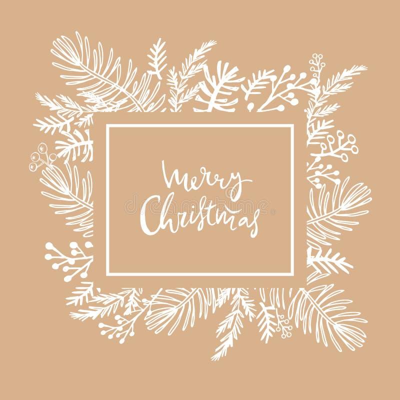 Рождество card182 иллюстрация штока