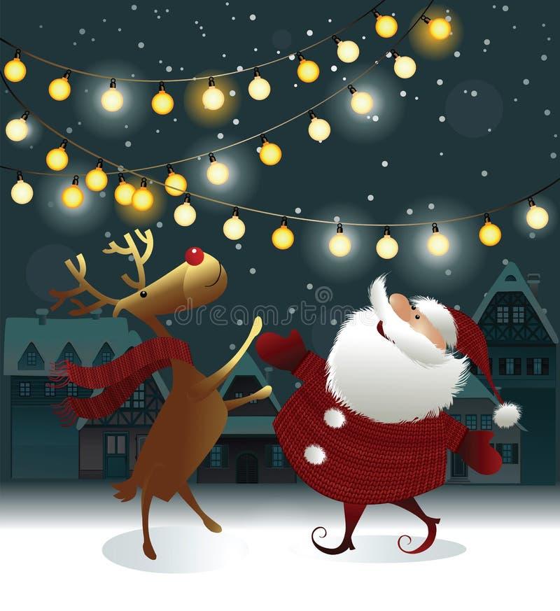 рождество claus santa предпосылки иллюстрация штока