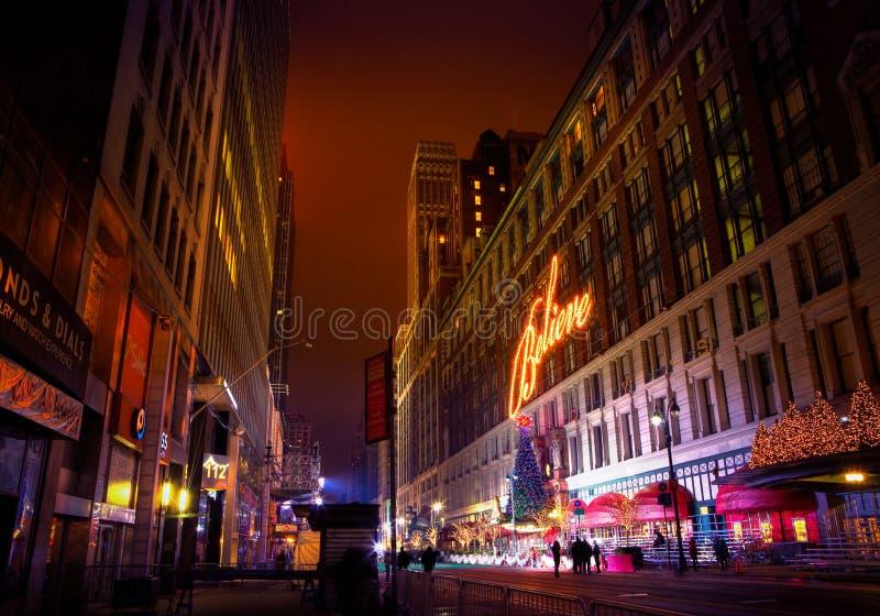 Рождество NYC Macy стоковые фотографии rf