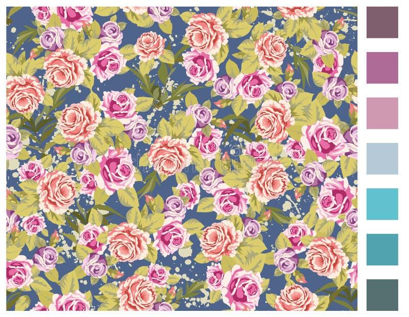 роза предпосылки безшовная стоковые изображения rf