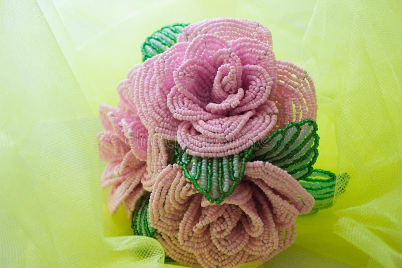 Роза сделало из шариков, пинка стоковое фото rf