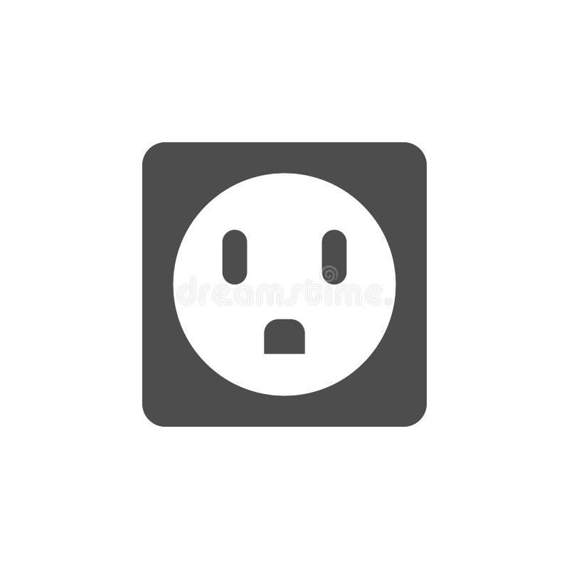 розетка значка сюрприза Элементы значка сети Наградной качественный значок графического дизайна Знаки и значок собрания символов  иллюстрация вектора