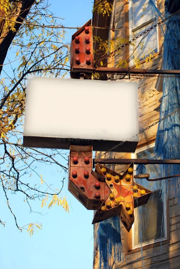розничный сбор винограда знака стоковое изображение rf