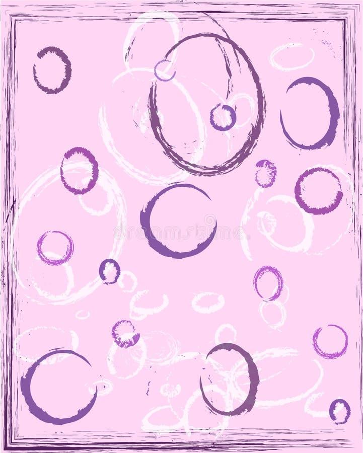 Розовая абстрактная предпосылка с кольцами иллюстрация вектора