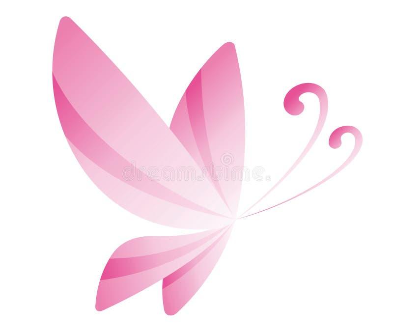 Розовая бабочка иллюстрация штока