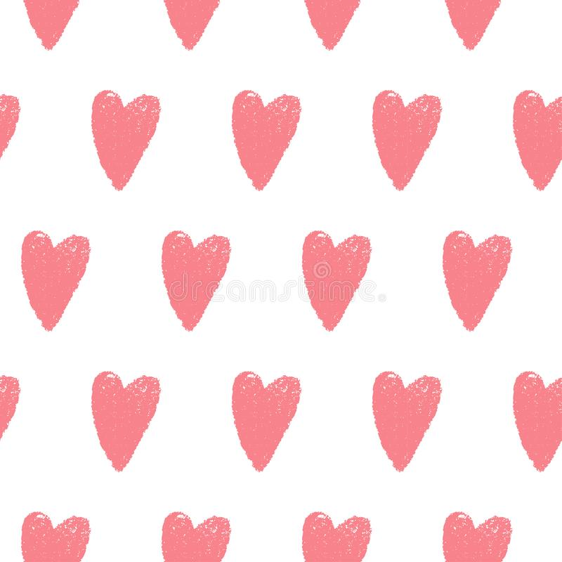 Розовая безшовная картина сердца стоковое фото rf