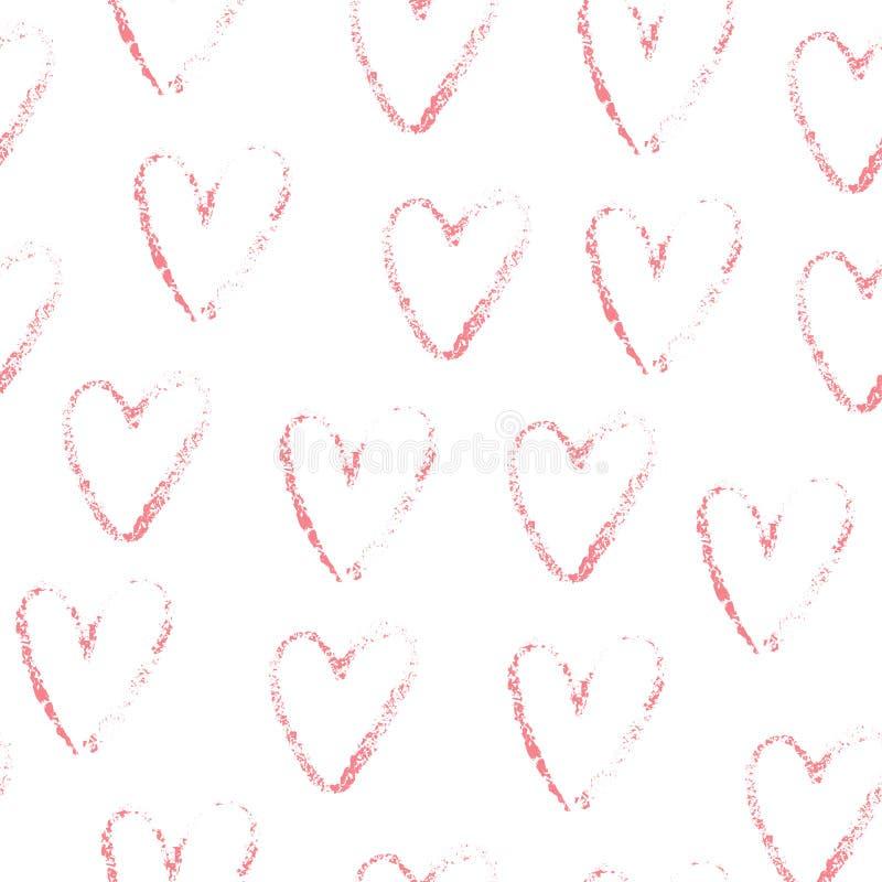 Розовая безшовная картина сердца стоковое изображение