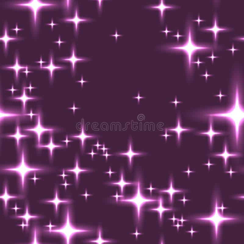 Розовая безшовная предпосылка с сияющими звездами стоковые изображения