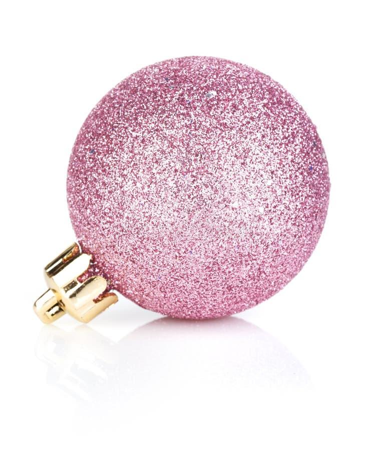 Розовая безделушка рождества стоковая фотография rf