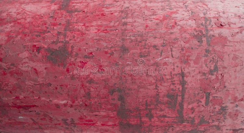Розовая винтажная предпосылка металла с треснутой краской o стоковое фото