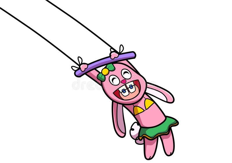 Розовая выставка кролика иллюстрация вектора