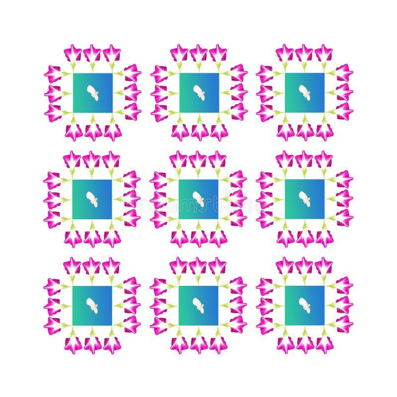 розовая голубая флористическая картина стоковые фото