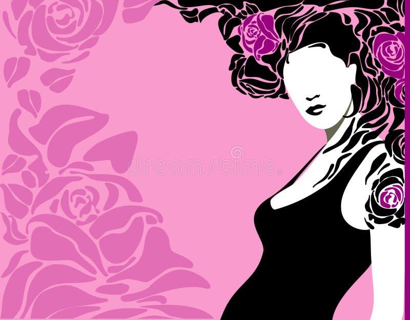 розовая женщина бесплатная иллюстрация
