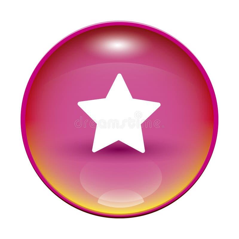 розовая звезда иллюстрация вектора