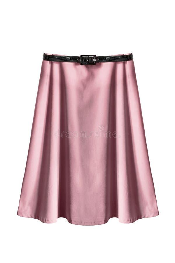 Розовая изолированная юбка стоковые фотографии rf
