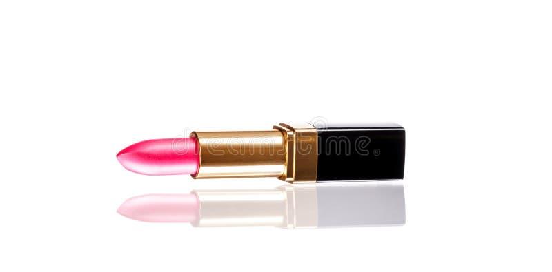 Розовая изолированная губная помада стоковое изображение