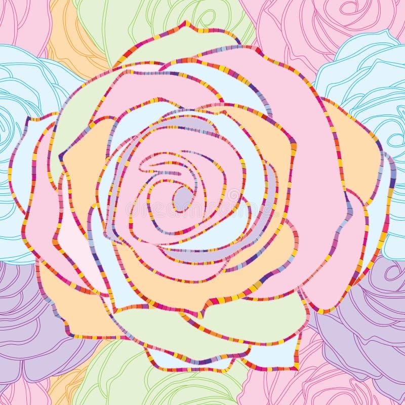 Розовая линия пастельная безшовная картина бесплатная иллюстрация