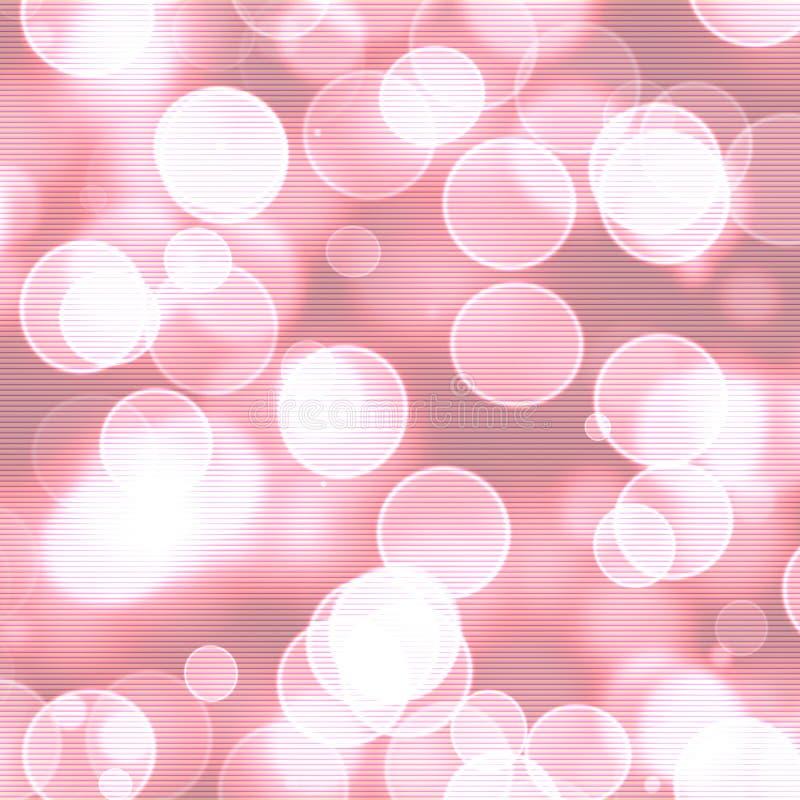 Розовая и белая предпосылка bokeh иллюстрация вектора