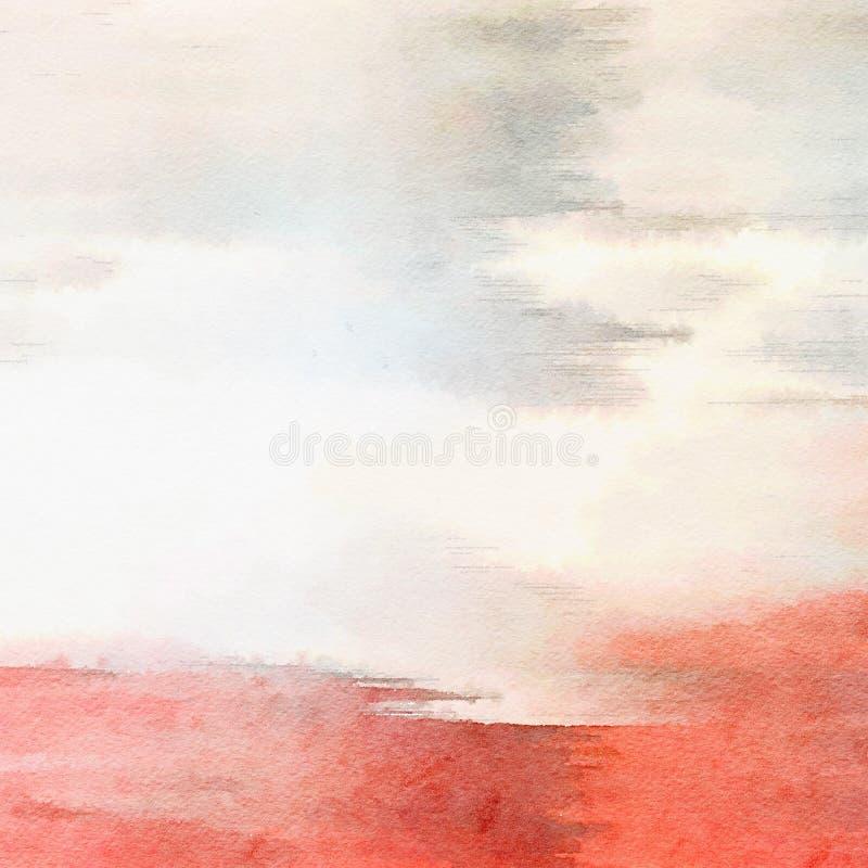 Розовая и белая предпосылка акварели иллюстрация вектора