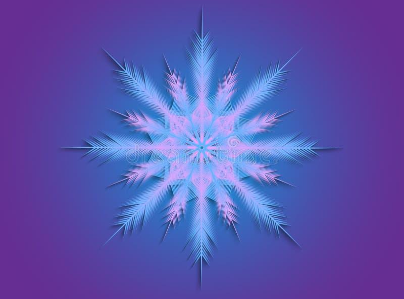 Розовая и голубая снежинка стоковое фото