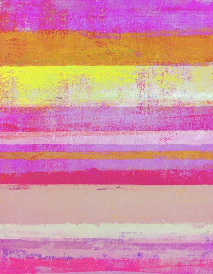 Розовая и померанцовая картина абстрактного искусства стоковая фотография rf