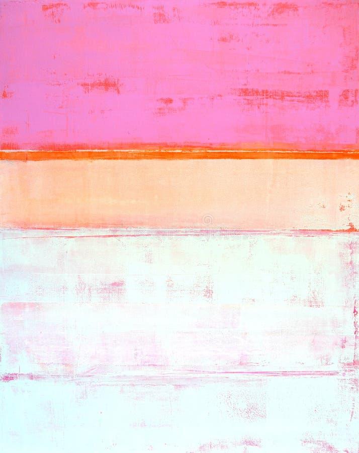 Розовая и померанцовая картина абстрактного искусства стоковые изображения