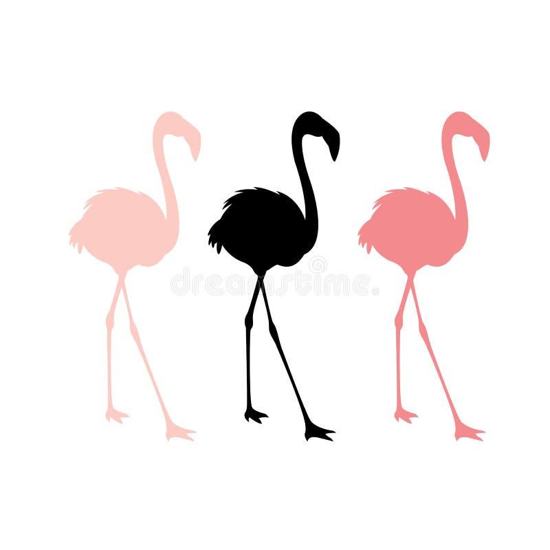 Розовая иллюстрация вектора фламинго бесплатная иллюстрация