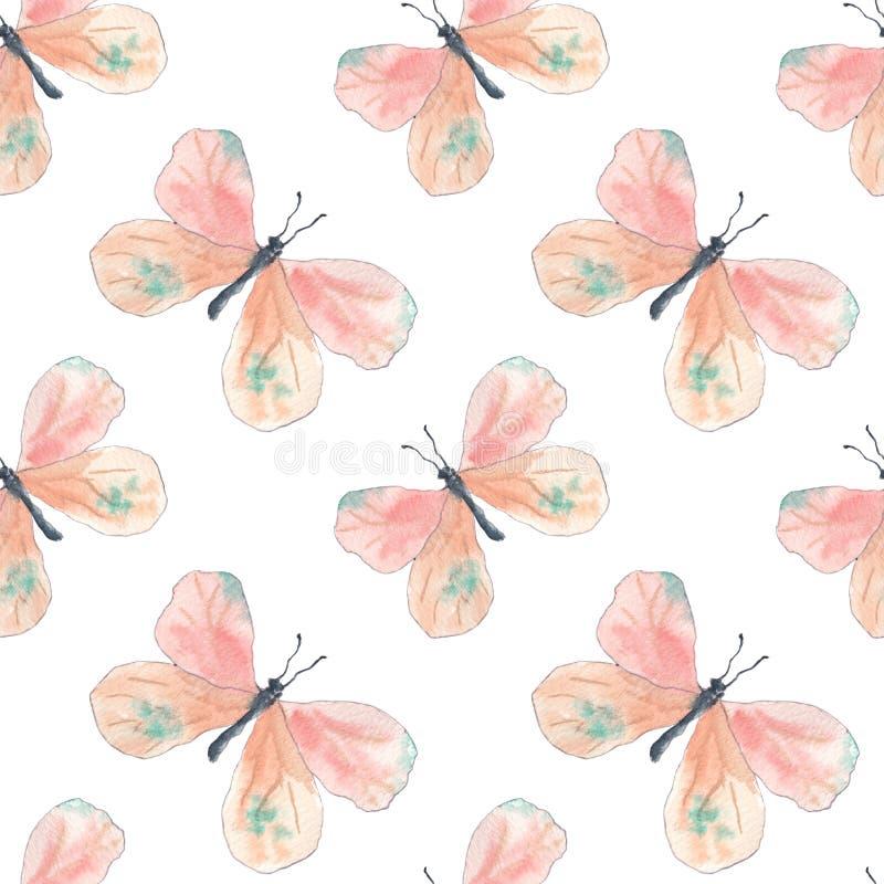Розовая картина бабочек бесплатная иллюстрация