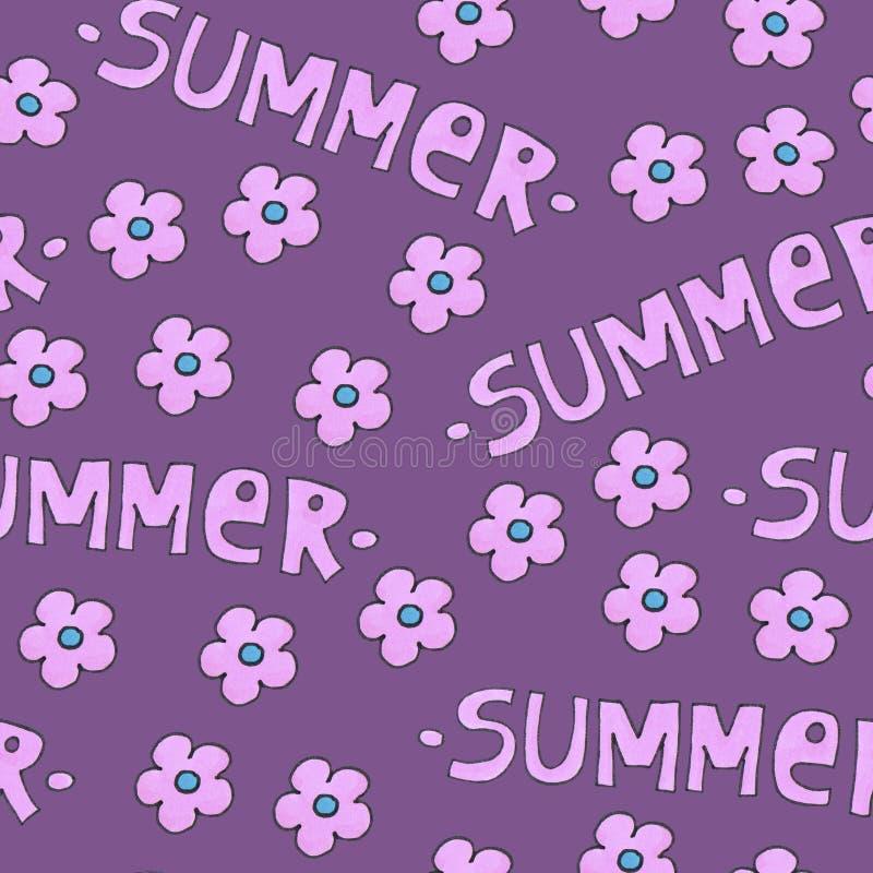 Розовая картина лета для предпосылки или пакета стоковое изображение