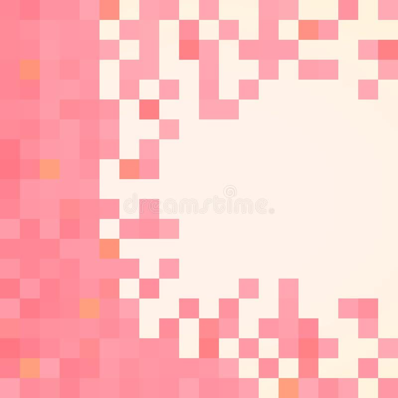 Розовая картина сделанная квадратов с космосом экземпляра иллюстрация штока