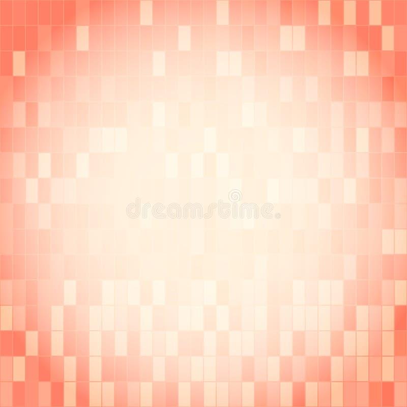 Розовая картина сделанная прямоугольника с космосом экземпляра иллюстрация штока