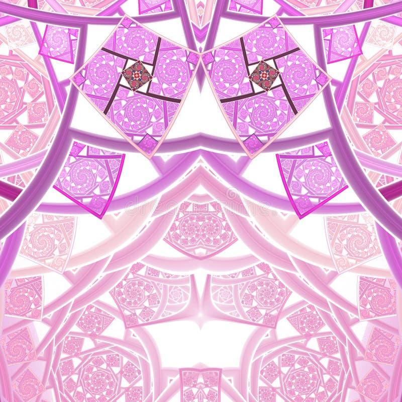 Розовая картина фрактали clockwork иллюстрация штока