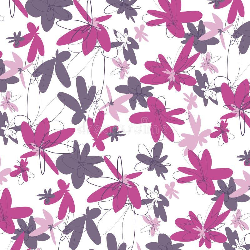 Розовая картина цветков иллюстрация вектора