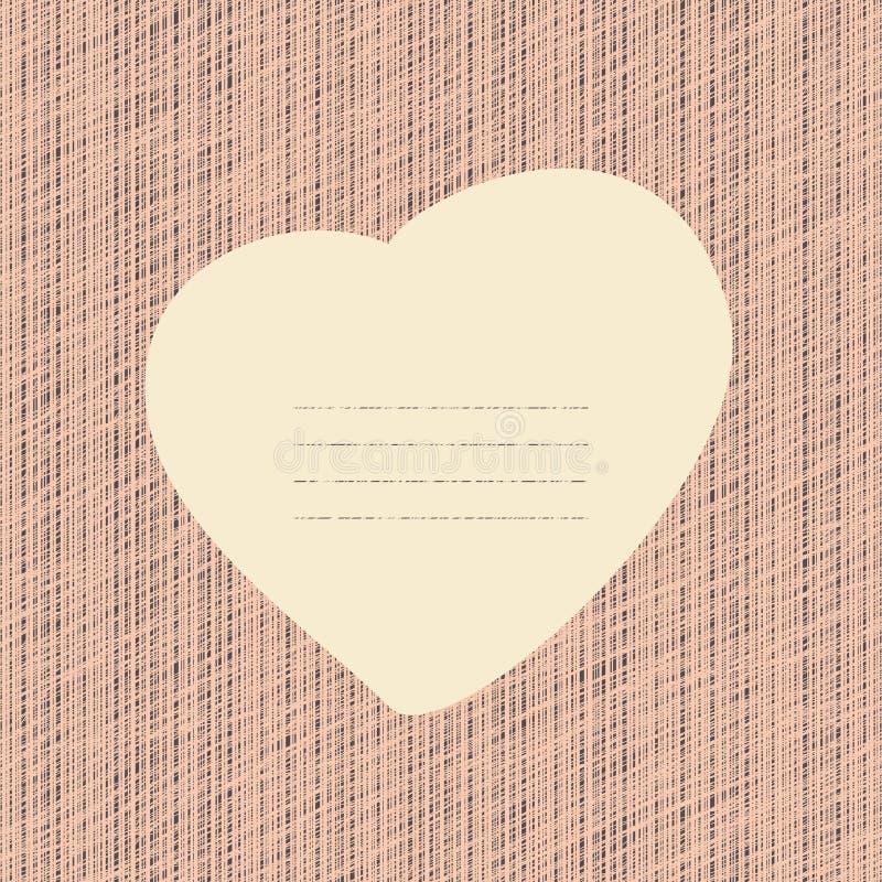 Розовая карточка влюбленности Фон Grunge с царапинами иллюстрация штока