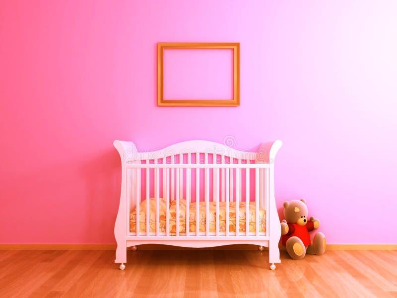 Розовая комната младенца стоковые изображения