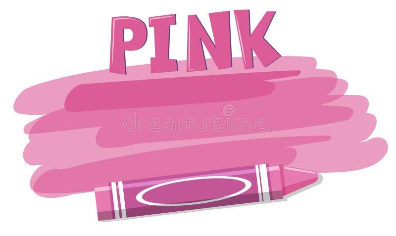 Розовая концепция предпосылки crayon бесплатная иллюстрация