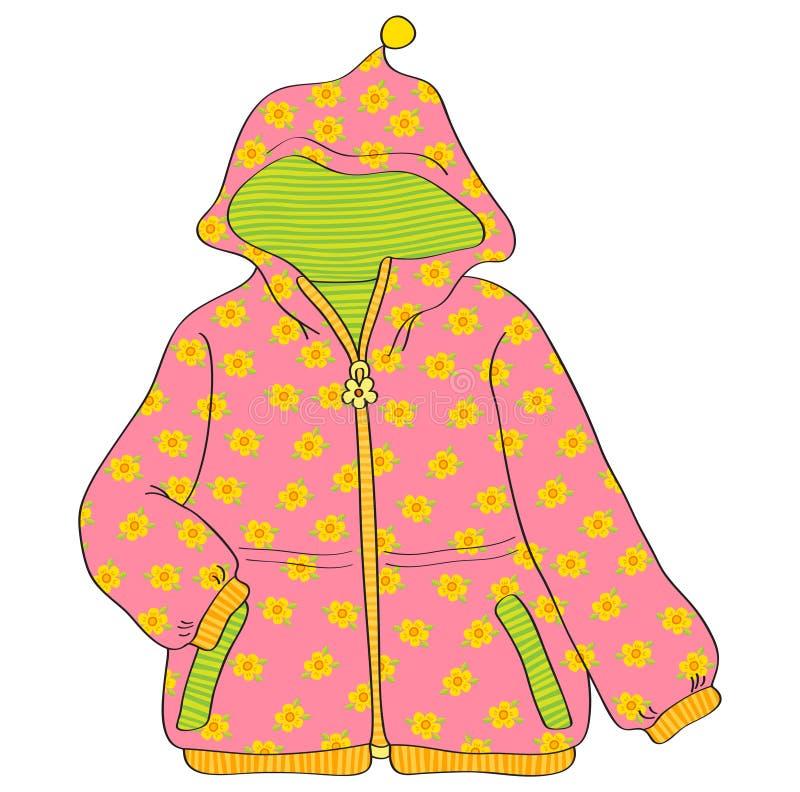 Розовая куртка ` девушек иллюстрация штока