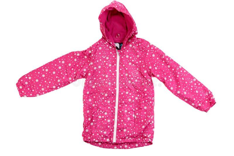 Розовая куртка с клобуком. стоковое фото