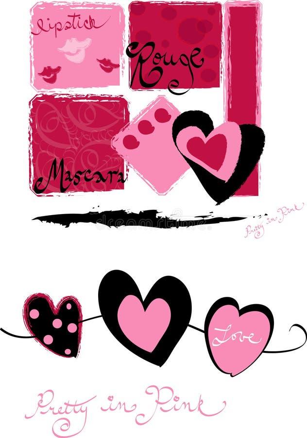 розовая милая иллюстрация вектора