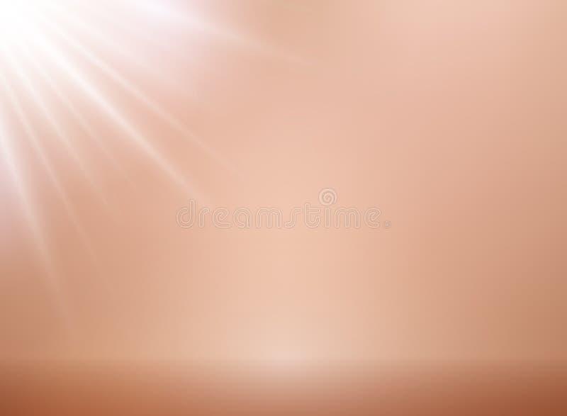 Розовая предпосылка вектора золота с освещением Металлический розовый ба золота иллюстрация штока