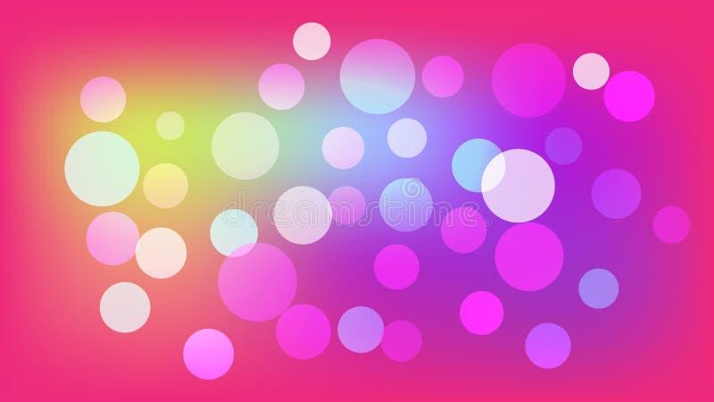 Розовая предпосылка вектора с кругами Иллюстрация с набором светить красочной ступенчатости Картина для буклетов, листовок бесплатная иллюстрация
