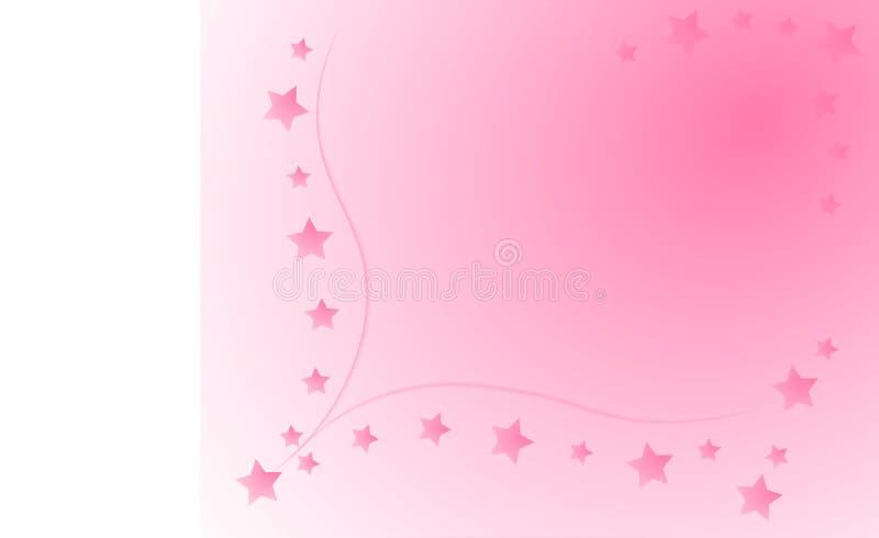 Розовая предпосылка с звездами и место для текста стоковое изображение rf
