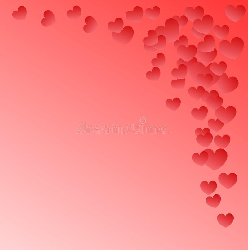Розовая предпосылка с малыми сердцами летания с местом для текста стоковые изображения rf