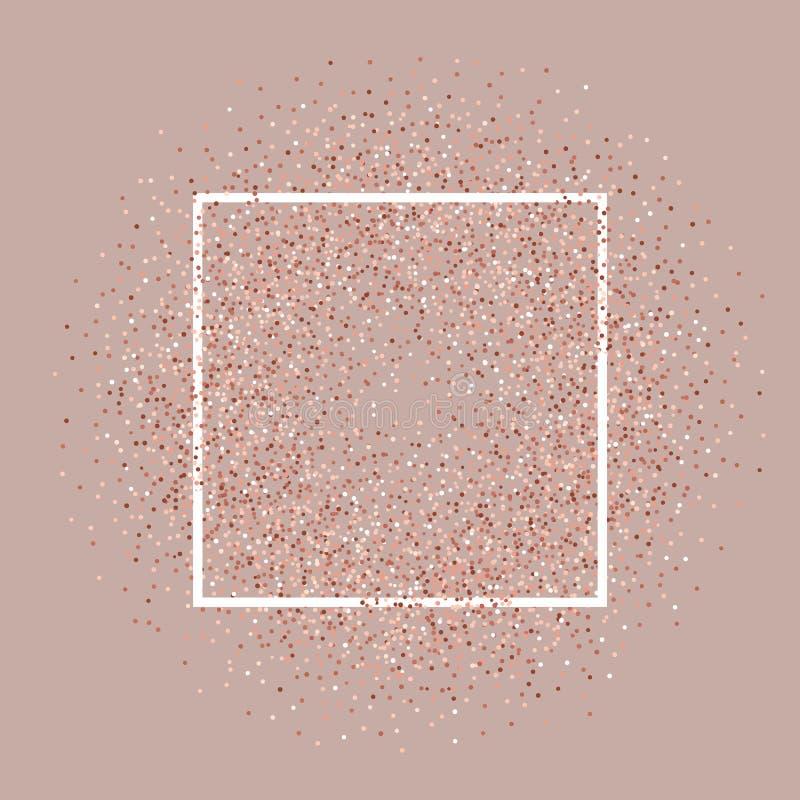 Розовая предпосылка яркого блеска золота с белой рамкой бесплатная иллюстрация