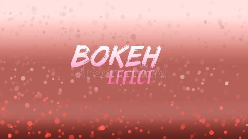 Розовая предпосылка Bokeh  бесплатная иллюстрация