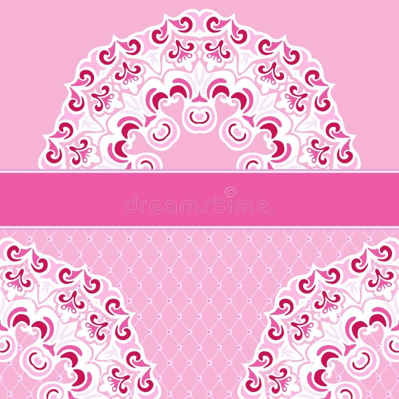 Розовая предпосылка рамки шнурка границы вектора бесплатная иллюстрация