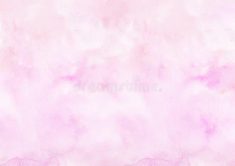 Розовая предпосылка рисовальной бумаги акварели стоковые фотографии rf
