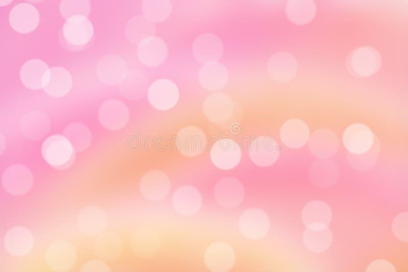 Розовая предпосылка Bokeh иллюстрация вектора