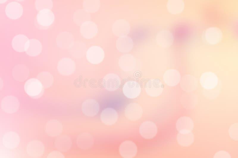 Розовая предпосылка Bokeh иллюстрация штока