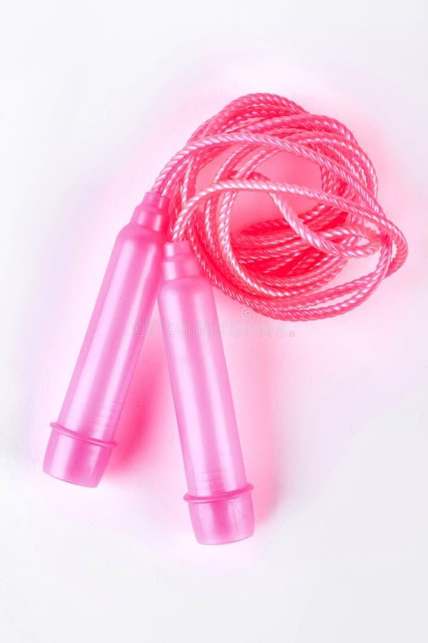Розовая прыгая веревочка, взгляд сверху стоковое фото rf